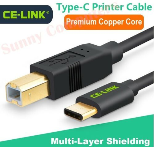 USB 3.1 Type-C Male to USB 2.0 Type-B M/M Printer Cable For Laptop Notebook PC