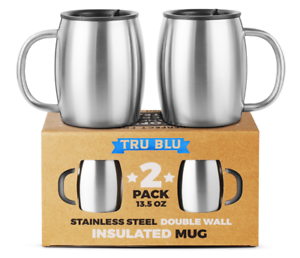 Details about Stainless Steel Coffee Tea Beer Travel Mug Double Wall Insulated Resistant Lid