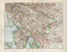 Landkarte map 1907: KRAIN-KÜSTENLAND. Adria Kroatien Europa Italien