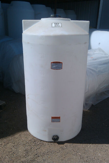 Used Water Tanks For Sale >> 150 Gallon Poly Water Storage Tank Tanks Vert For Sale Online Ebay