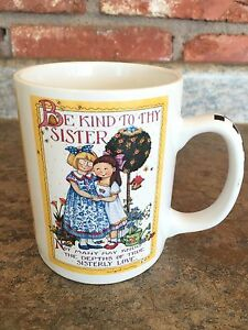 Mary-Engelbreit-Be-Kind-to-Thy-Sister-Sisterly-Love-latte-coffee-cup-mug-by-OZ