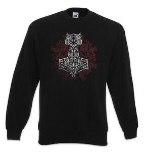 Walhalla Ornaments Vikings Hammer Odhins Thors Wikinger Pullover Sweatshirt 5XzqX8w