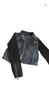 Maison-Scotch-Jean-Jacket-W-leather-Sleeves-Xs-And-Small