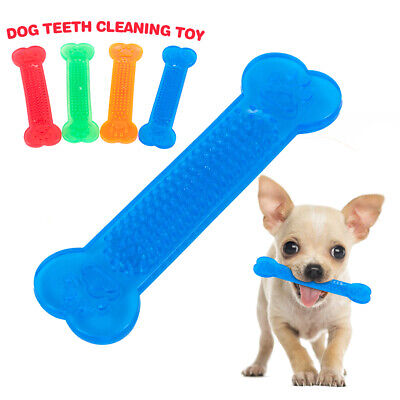 Pet Aggressive Chew Toys for Dogs Cute Bone Rubber Dog Tooth Cleaning Toy New