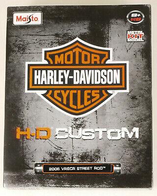 Prl) Maisto Harley-davidson Custom 2006 Vrscr Street Rod 1:18 Bike Motocicletta