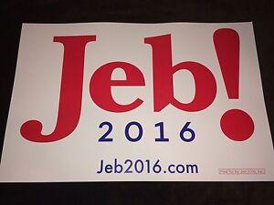 Jeb Bush Governor Florida Official 2016 President Campaign Bumper Sticker