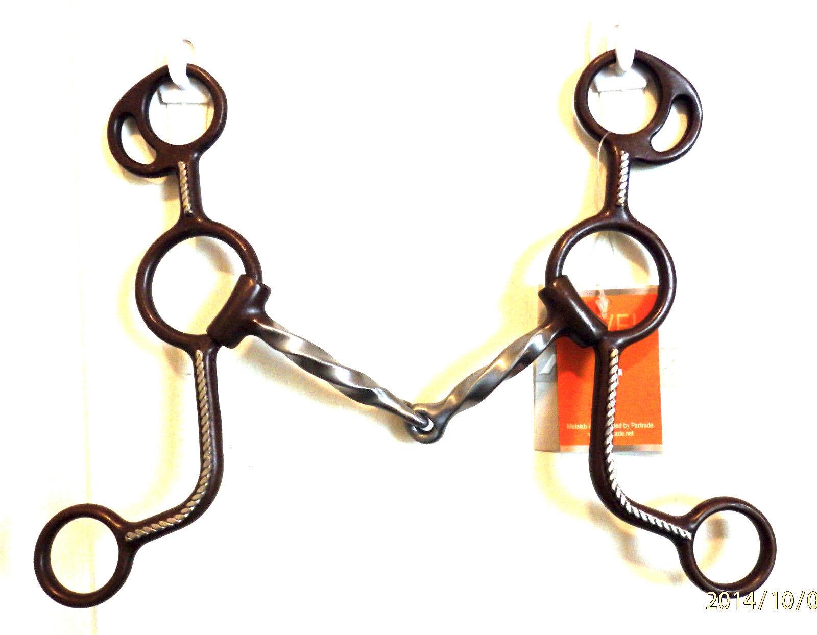 Metalab Antique  SS rope trim  twisted gag affect 230033 western bit