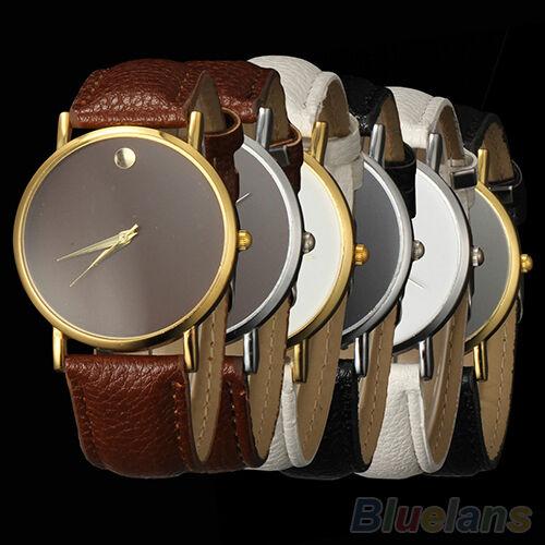 High Quality Women Men Unisex Casual Leather Band Vogue Wrist Watch B6BU