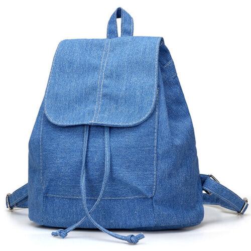 Damen Jeans Rucksack Schulrucksack Backpack Reisetasche Denim Mini Schulranzen