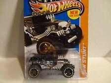 2013 Hot Wheels #90 Black Baja Bone Shaker w/Off Road Wheels