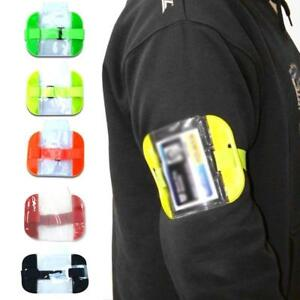 High Visibility Security PVC Arm Band ID Badge Card Holder Cover Armband Bags