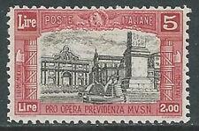 1928 REGNO MILIZIA 5 LIRE MNH ** - W260