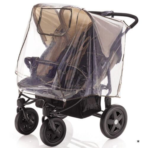 Regenschutz Zwillings-Kinderwagen Universal Regenhülle Buggy Abdeckung Regen B