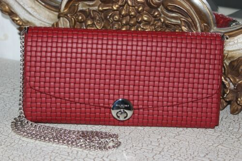 Hand Leather Red Milano Strap Amos Chain Bag Shoulder New Recycled Ladies Almini I4FwUY