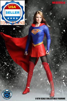 """1//6 Supergirl Head Sculpt Uniform Clothing Set A pour 12/"""" Figurine PHICEN ❶ USA ❶"""