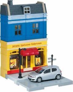 Herpa-City-800020-Spielwarenladen-mit-VW-Golf-GTI-Modell-1-64