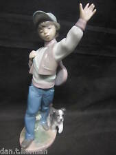 LLADRO WEDNESDAY'S CHILD - LITTLE BOY WITH DOG & GUITAR No. 6015