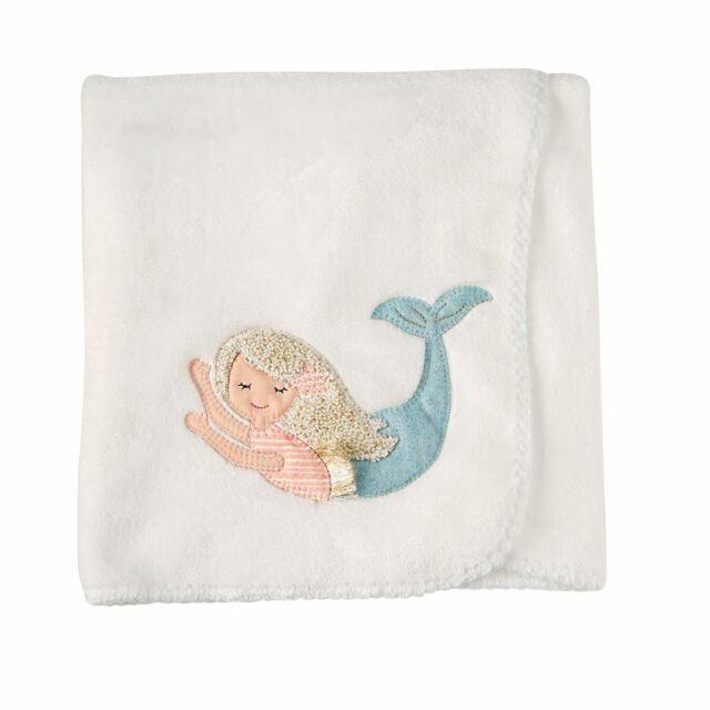 Mermaid Tail One Size Mud Pie Baby Girls/' Nursery Blanket