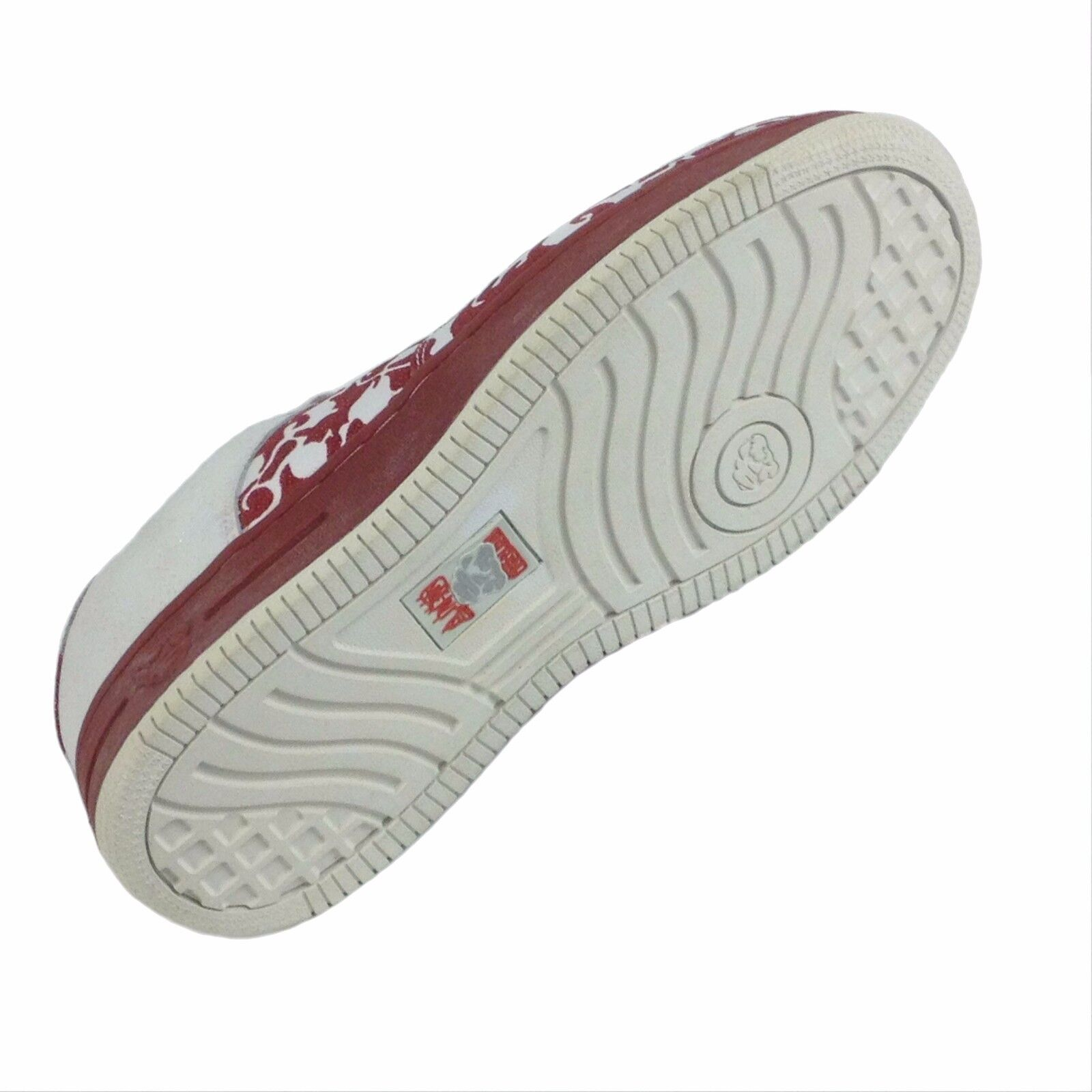 Tough City Red Ruby and White Shoes Style SN003 Size 8.5, to 12.