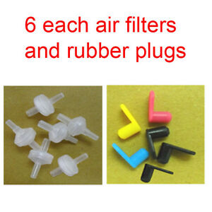 6-each-air-filter-rubber-plugs-for-ink-cartridge-CISS-HP-Lexmark-Canon-Brother