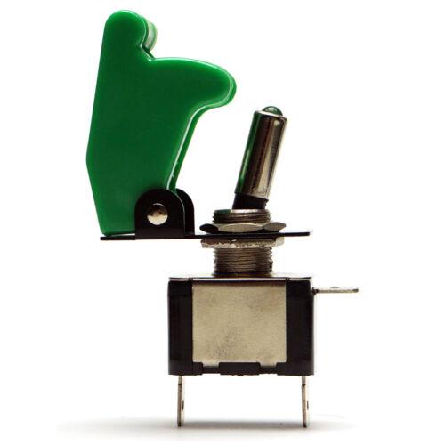 Kill Switch Verde Auto Kipp Interruttore Interruttore 12v Cappuccio 20a NOS LED VERDE