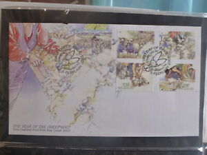 NEW-ZEALAND-2003-Yr-OF-THE-SHEEP-SHEARING-SET-5-STAMPS-FDC-FIRST-DAY-COVER