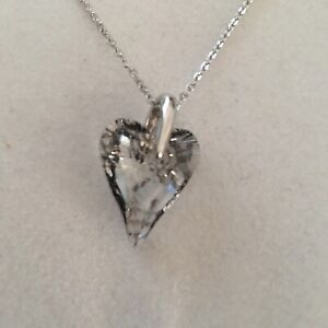 Necklace Crystal Heart Pendant Gold Patina Gift Special Friend