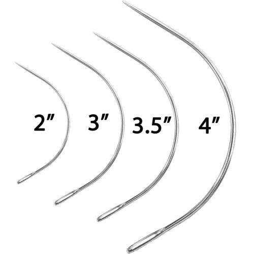 """Curved Sewing Needles Assorted Repair Quilting Upholstery Sewing 2/"""" 3/"""" 3.5/"""" 4/"""""""