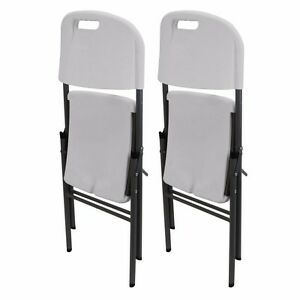 Image Is Loading Home Party Classic Heavy Duty Folding Chair White