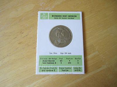 Geisha Girl Souvenir Coin Medal Mintage Westinghouse Credit Corp 5701