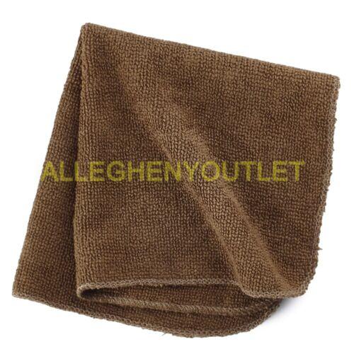 "QTY US Military 100/% Polyester Microfiber 12/""x12/"" Bath Washcloth Brown LN 4"