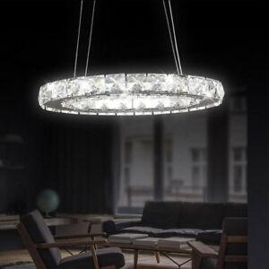 Das Bild Wird Geladen Oval Ring Kristall LED Pendelleuchte Wohnzimmer  Kronleuchter Befestigung