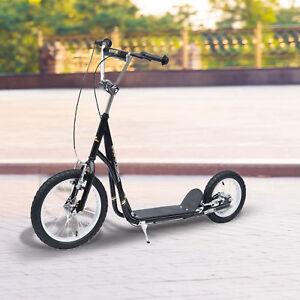 Adjustable-Teen-Kick-Scooter-Pro-Stunt-Scooter-Street-Bike-16-034-Tire-Black
