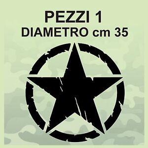 Adesivo-Stella-Militare-cm-35x35-US-ARMY-Jeep-renegade-Suzuki-fuoristrada-4X4