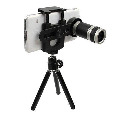 Universal 8x Zoom Optical Camera Lens Telescope + Mount Holder For Mobile Phone
