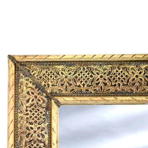 Orientalischer Marokkanischer Spiegel aus Messing Orient Marokko Wandspiegel S02