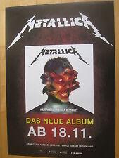 Metallica Promo Poster Hardwired To Self-Destruct - NEU
