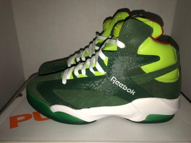 b04109e7553 Reebok V61428 Shaq Attaq Christmas Green Men s Basketball Shoes Size ...