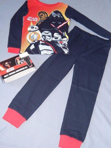 Star Wars 2 pc Outfit BOYS Thermal Underwear Set Cotton Shirt Pants Long Johns