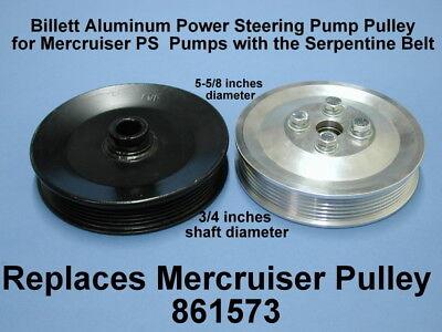 Sierra Mercruiser PS Power Steering Pump Serpentine Pulley 861578 18-8297