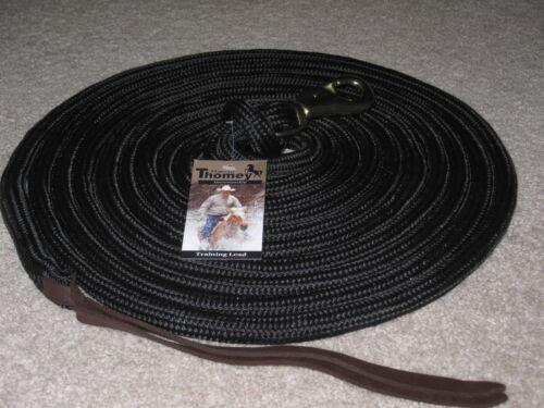 Natural Horse Training Lead corde longue ligne ~~ Noir THOMEY 23 ft environ 7.01 m