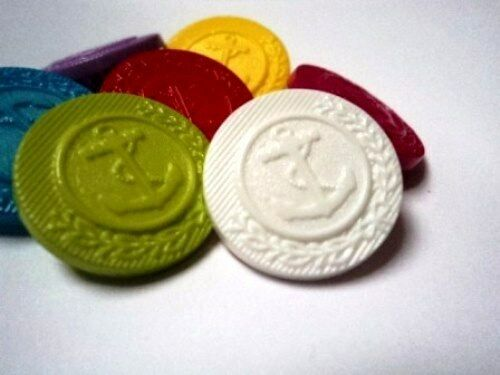 B971-21mm 5pcs LARGE ANCHOR SHANKED PLASTIC BUTTONS-CHOOSE YOUR COLOURS