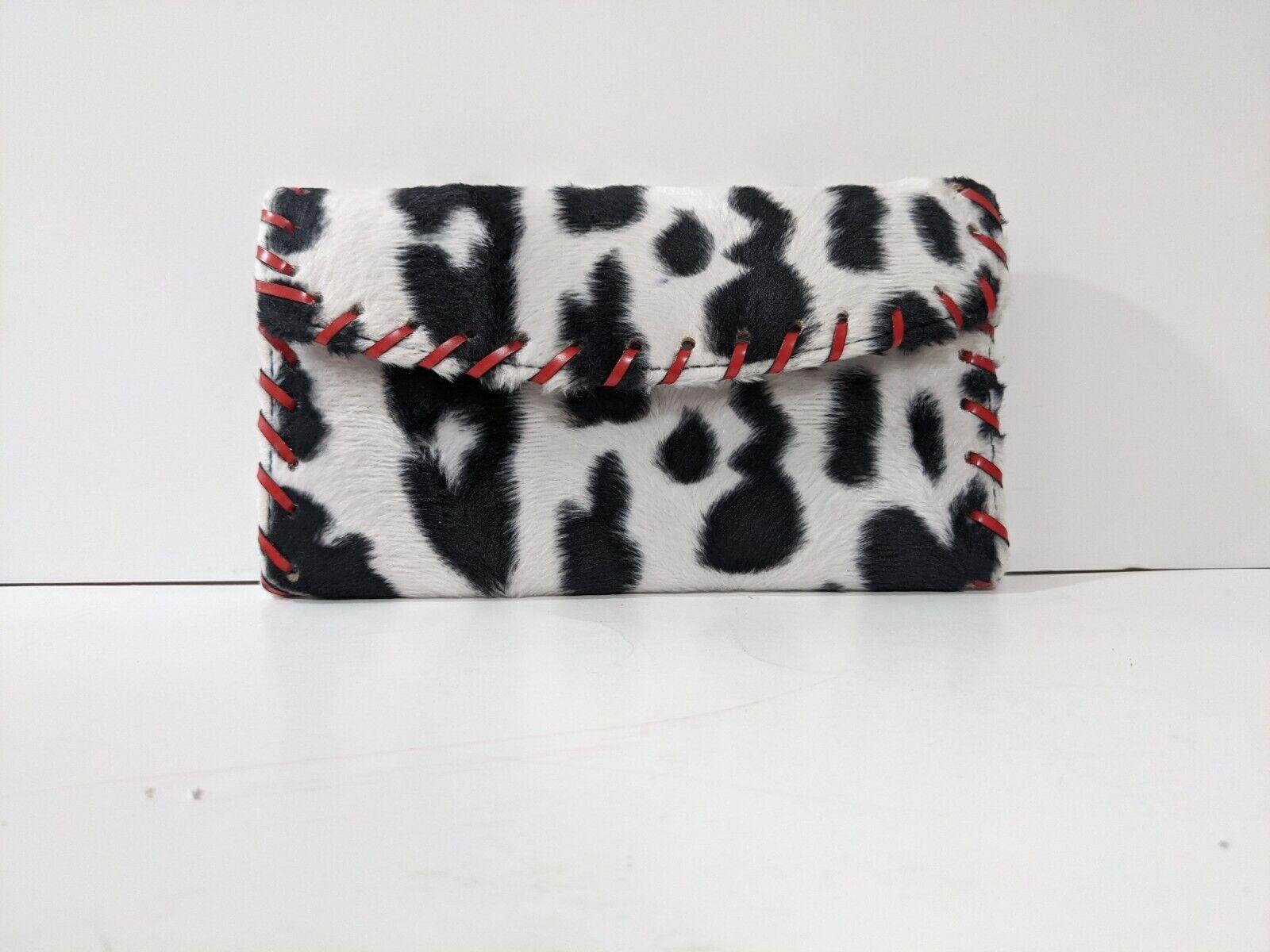 Cow Print Design Women's Wallet Billfold Checkbook Holder