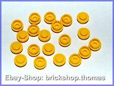 Lego 20 x Platte rund gelb - 4073 - Plate  Round Yellow - NEU / NEW