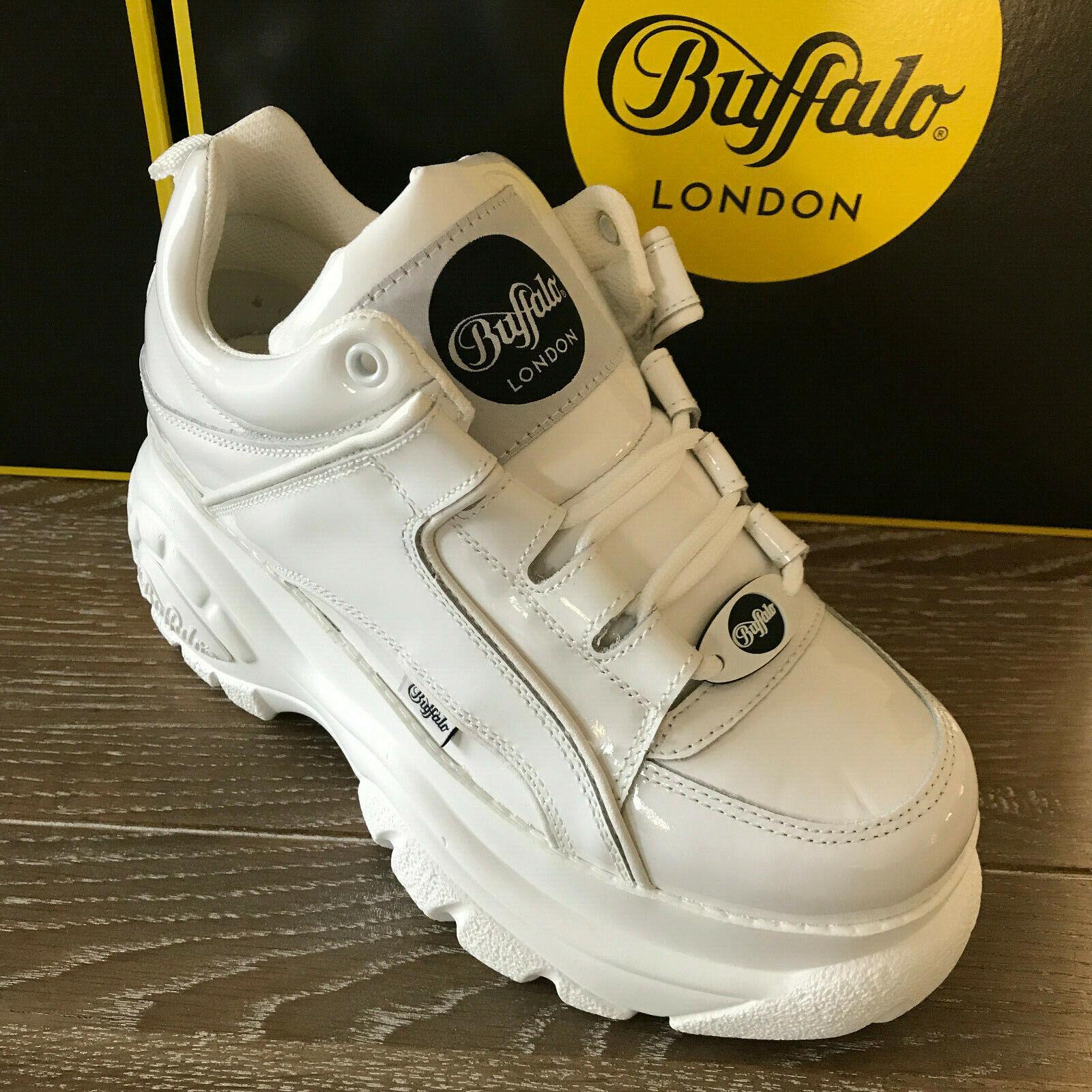 Buffalo London 1339-14 2.0 Weiß weiss charol glanz glanz glanz - NEU - grössen 36 bis 42  899249