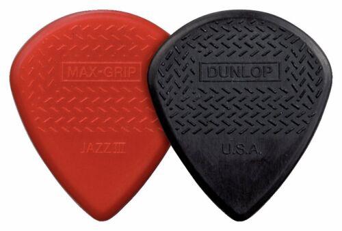 Packung mit 24 Stück Dunlop Pick Jazz III Max Grip Fiber