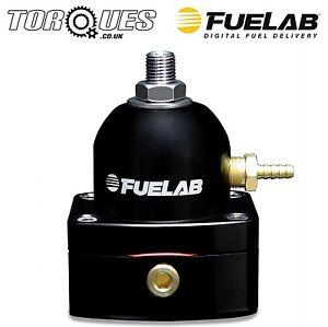 Fuelab Carburettor ORB-6 Adjustable Fuel Pressure Regulator 4-12 psi Black 51504