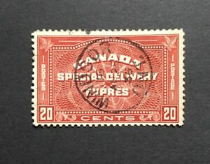 Stamps-Canada-E5-20c-henna-brown-Special-Delivery-Stamp-of-1939-VF-Used