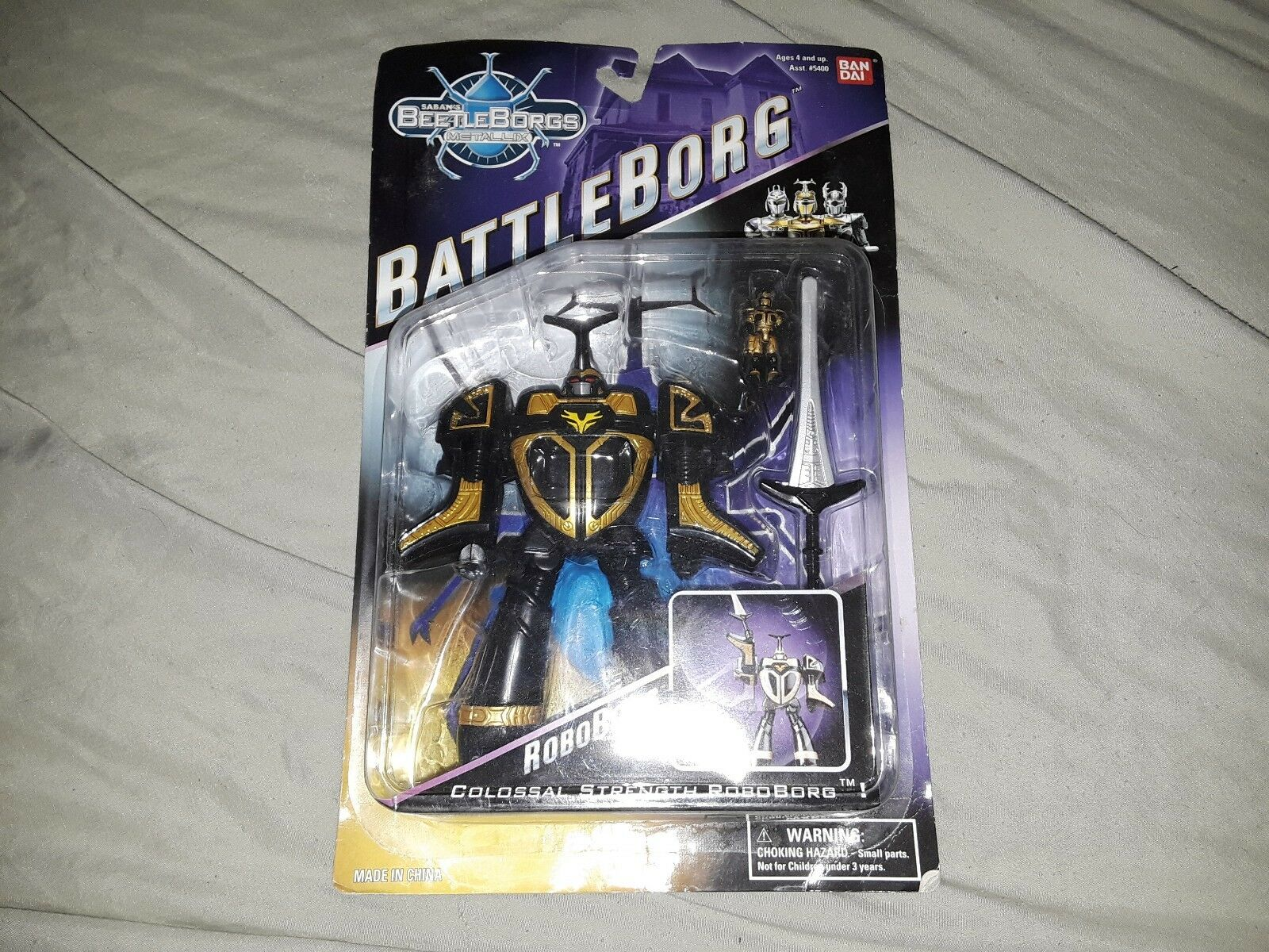 BeetleBorgs battleBorg ROBOBORG Chromium Gold Beetle Borg Figure NEW