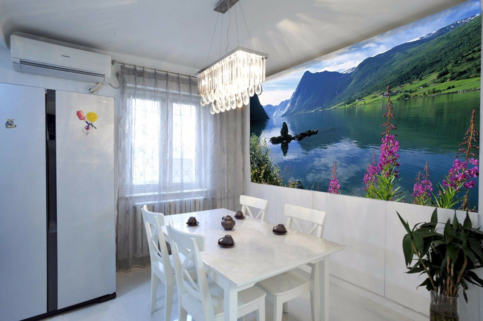 3D Mountain peak 253 Wall Paper Wall Print Decal Wall Indoor Murals Wall US